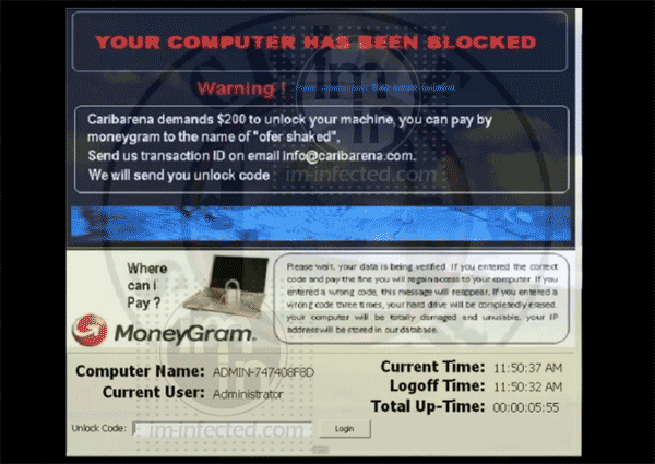 Caribarena-Ransomware