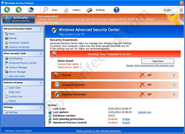 Windows Active HotSpot