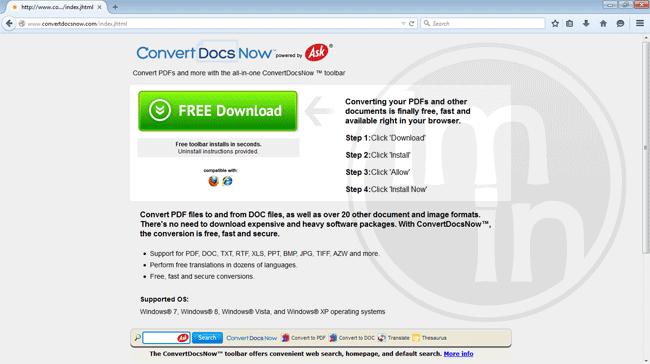 Convert Docs Now Toolbar