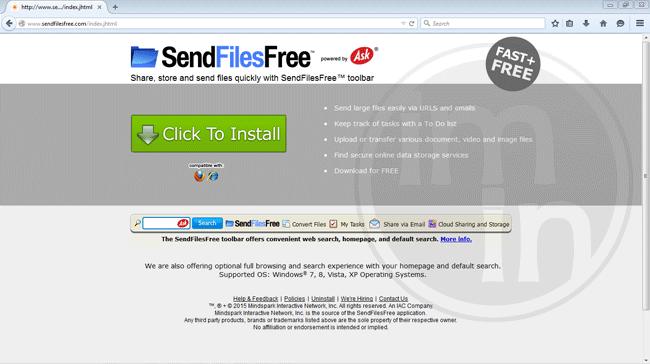 SendFilesFree Toolbar