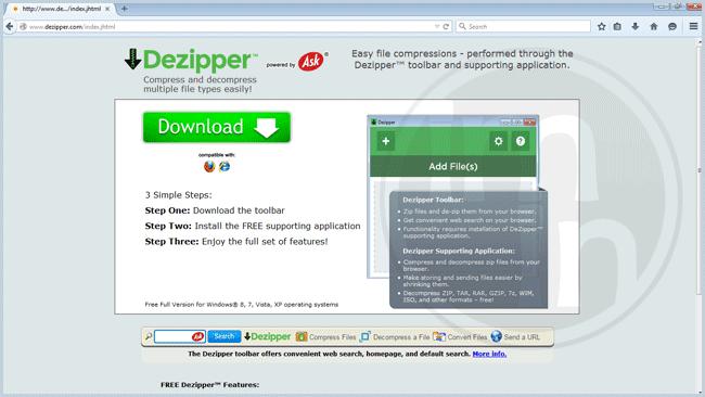 Dezipper Toolbar
