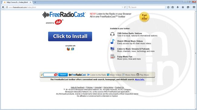 Free Radio Cast Toolbar