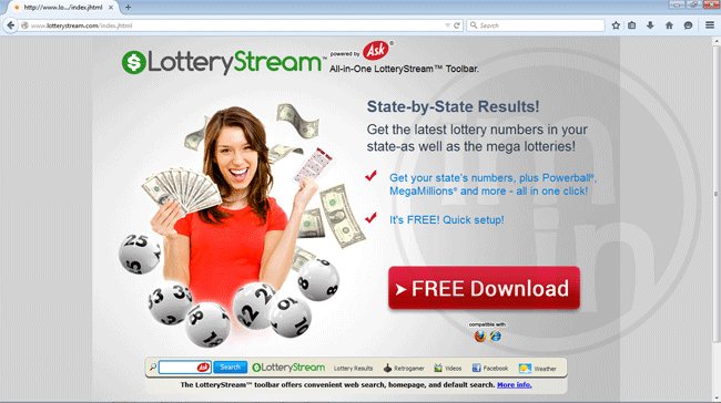 Lottery Stream Toolbar