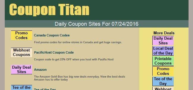 Coupon Titan