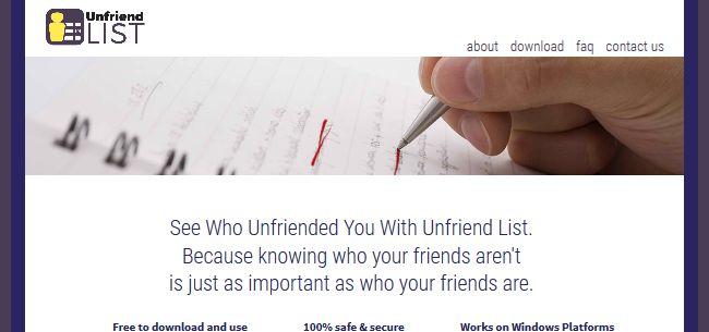 Unfriend List