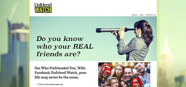 Unfriend Watch
