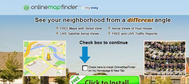OnlineMapFinder