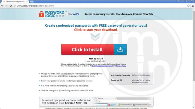 PasswordLogic Toolbar