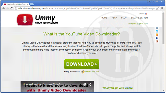 ummy video downloader virus