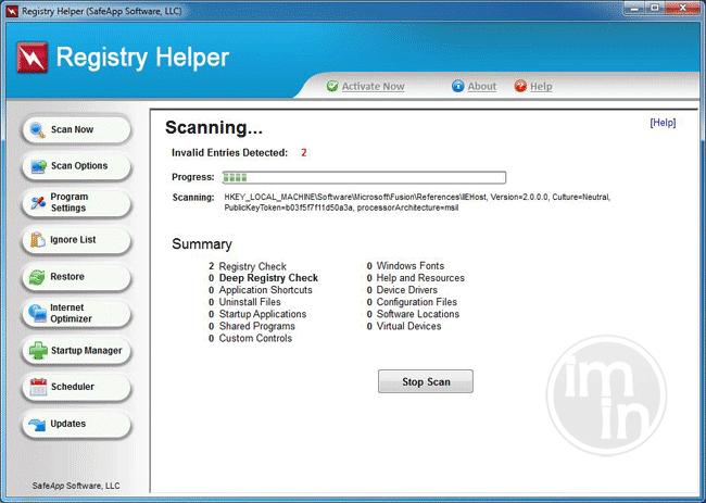 Registry Helper