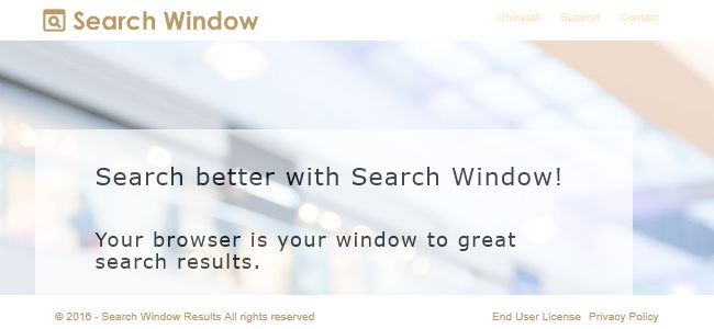 Search Window Results