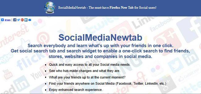 Social Media Newtab