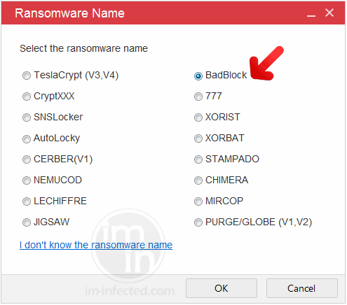 Select BadBlock