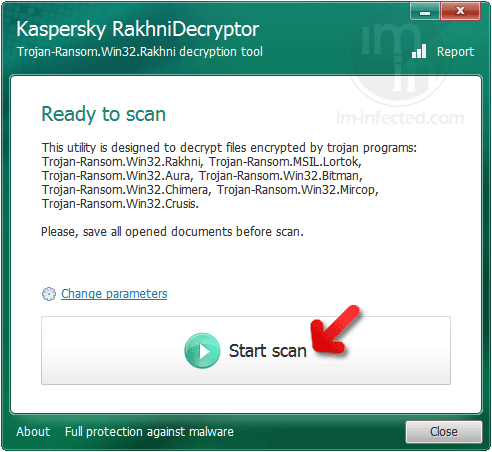 RakhniDecryptor Start Scan