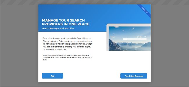 How to remove Search Manager