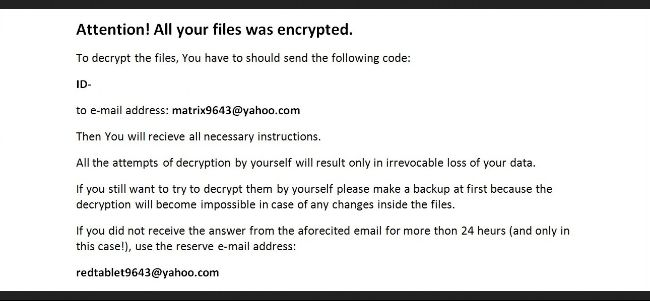 Remove Matrix Ransomware Virus - VirusPup