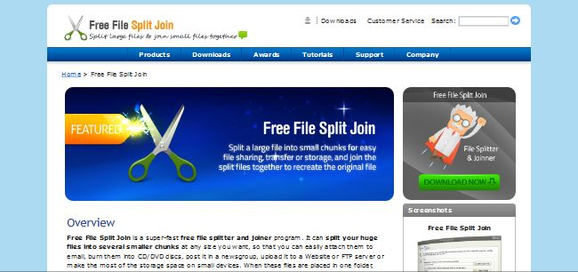 Free File Split Join