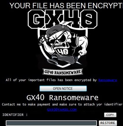GX40 Ransomware (Virus Removal Guide) - VirusPup