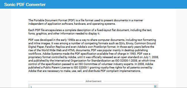 Sonic PDF Converter