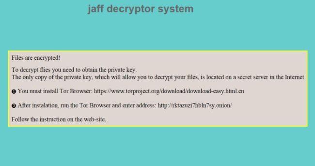 Jaff Decryptor System