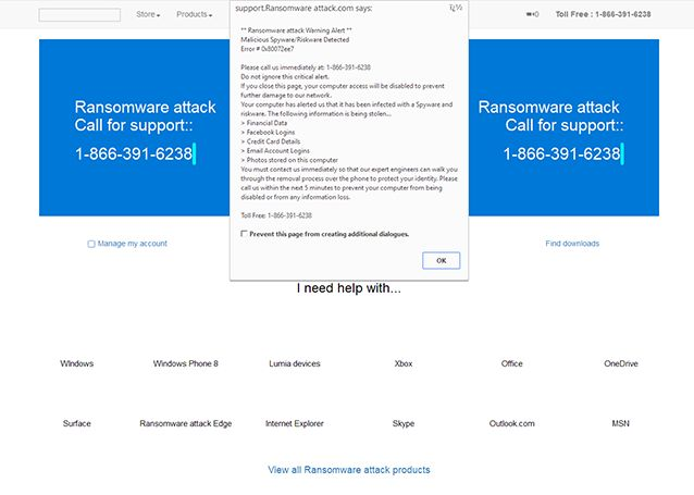 Ransomware Attack Warning Alert