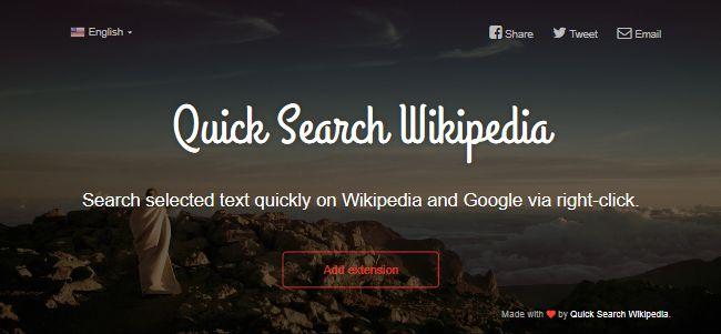 Quick Search Wikipedia