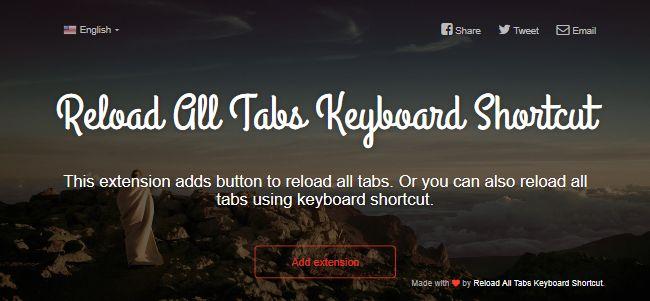 Reload All Tabs Keyboard Shortcut