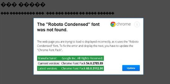 The Roboto Condensed Font Was Not Found