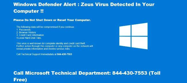 �Zeus Virus Detected�
