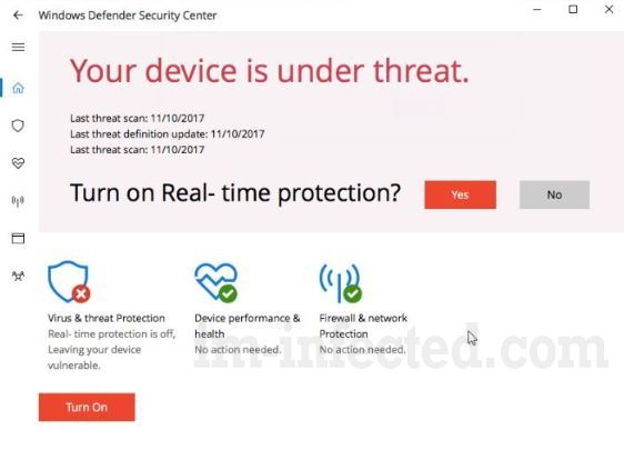 Your Device is Under Threat