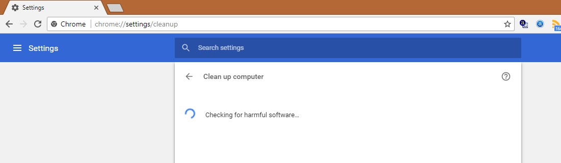 Chrome Cleanup Tool to remove Malware
