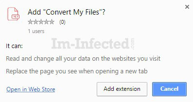 Convert-myfiles.link Extension Permissions