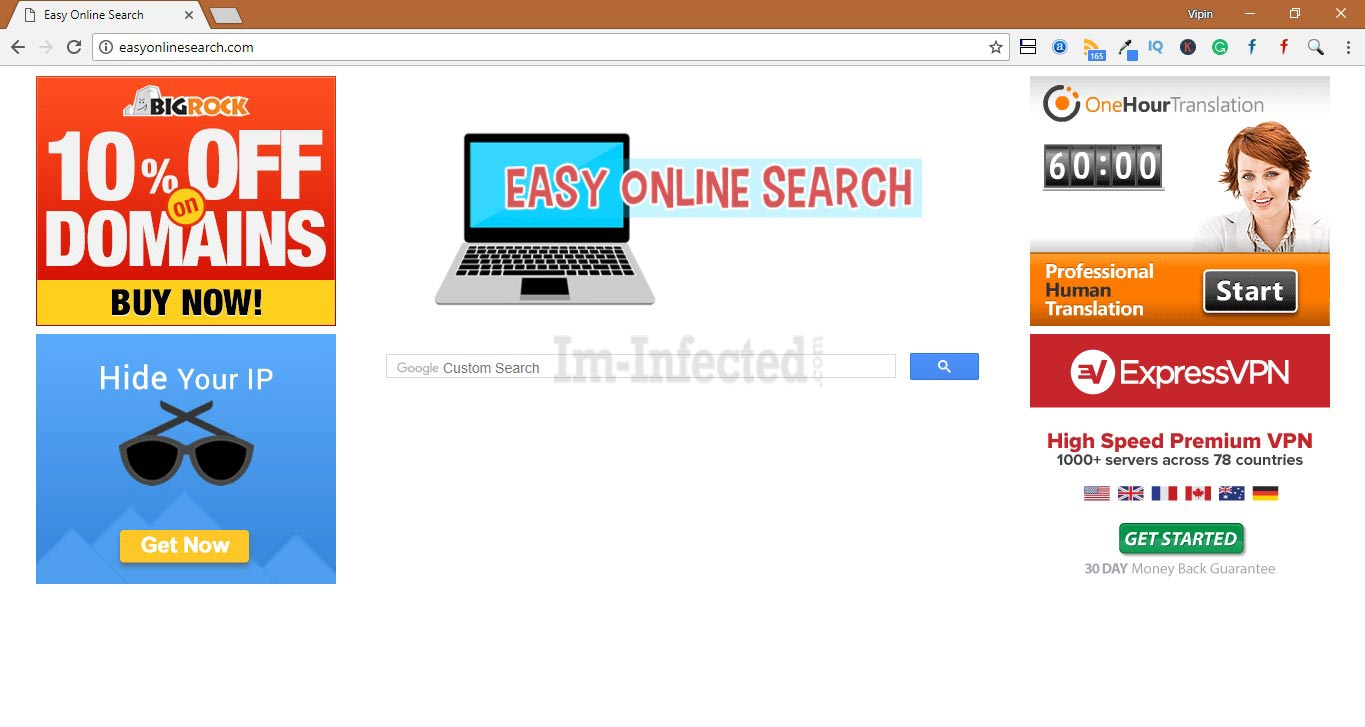 How to Remove Easyonlinesearch.com search hijacker
