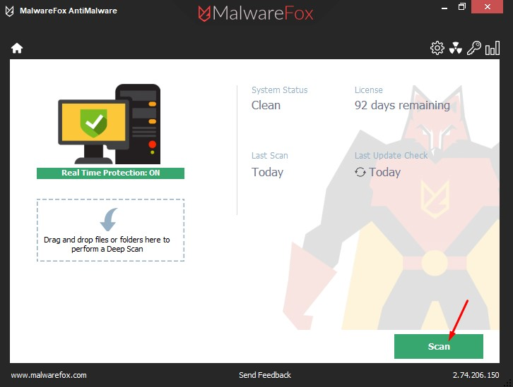 Scan with MalwareFox - How to Remove Any Browser Hijacker
