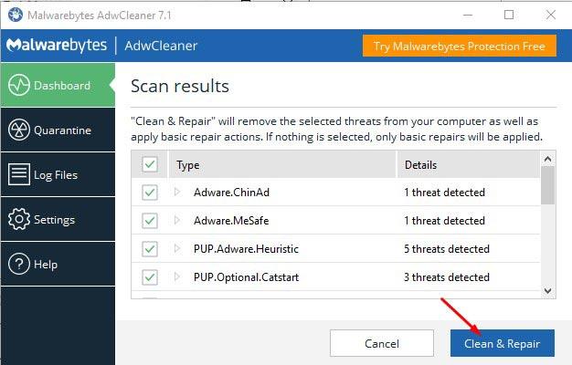 Use AdwCleaner 4