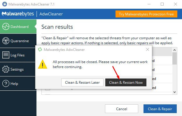 How to Remove Tech Support Popups - Use AdwCleaner 5