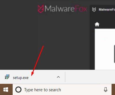 Use MalwareFox 1