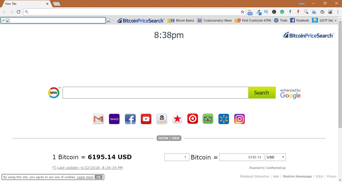 How to Remove BitcoinPriceSearch