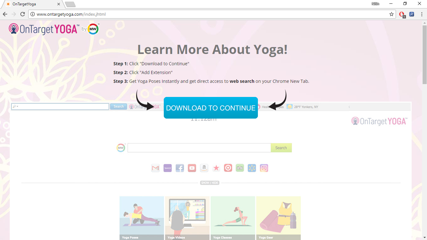 How to Remove www.ontargetyoga.com