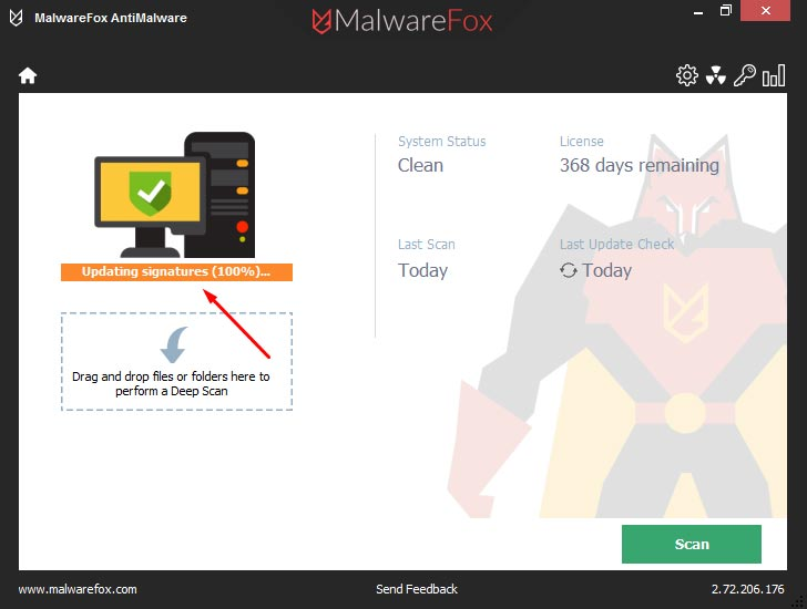 MalwareFox Updating Signature