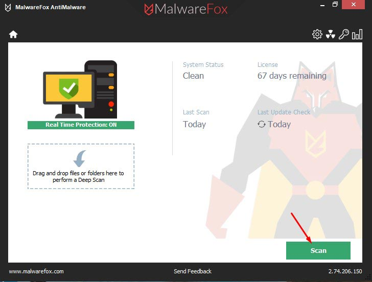 Scan with MalwareFox 1