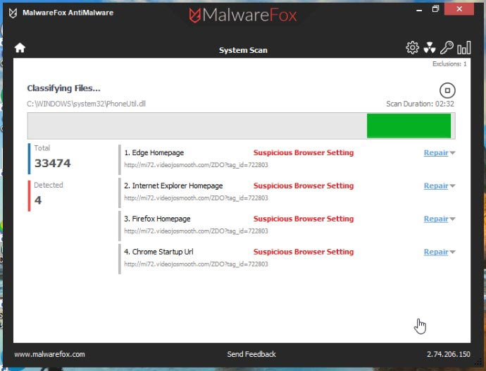 Scan with MalwareFox 2
