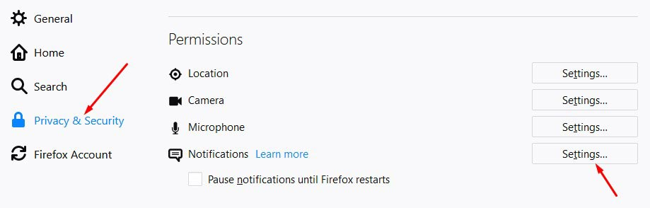 Stop Click Allow Notification from Firefox 2