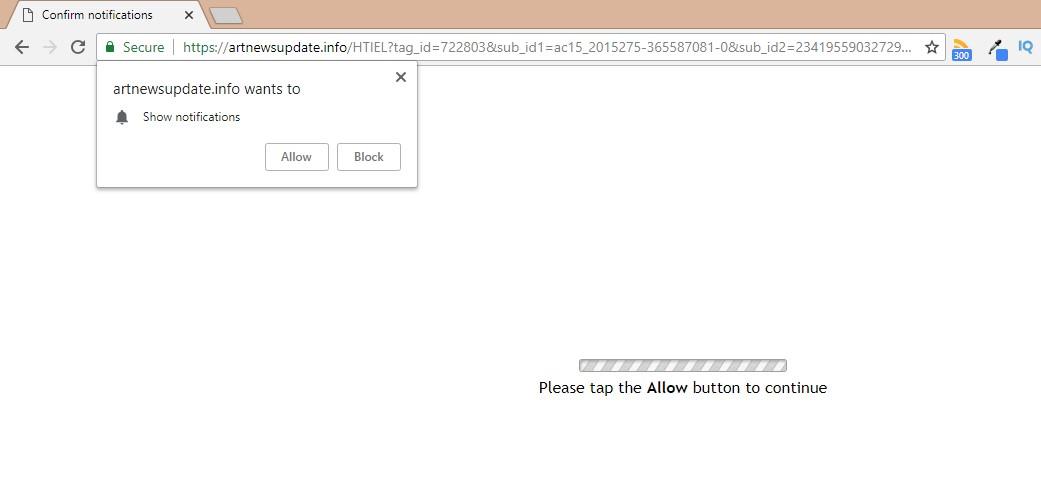 How to remove Artnewsupdate.info Pop-up