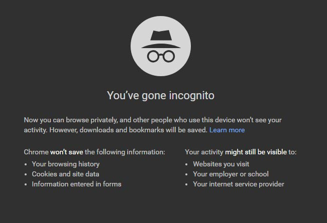 How Private is Incognito Mode of your Browser