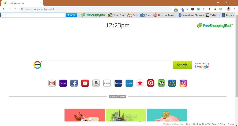 How to remove FreeShoppingTool Toolbar