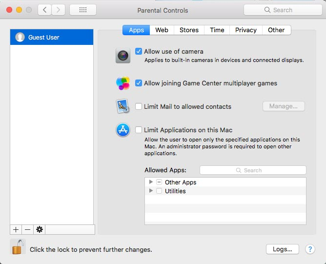 Set Parental Controls on Mac PC 4