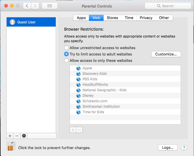 Set Parental Controls on Mac PC 5