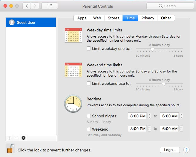 Set Parental Controls on Mac PC 7