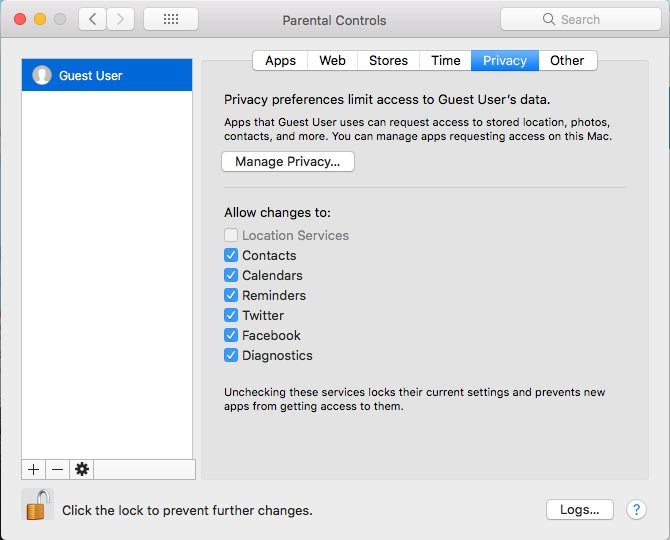Set Parental Controls on Mac PC 8